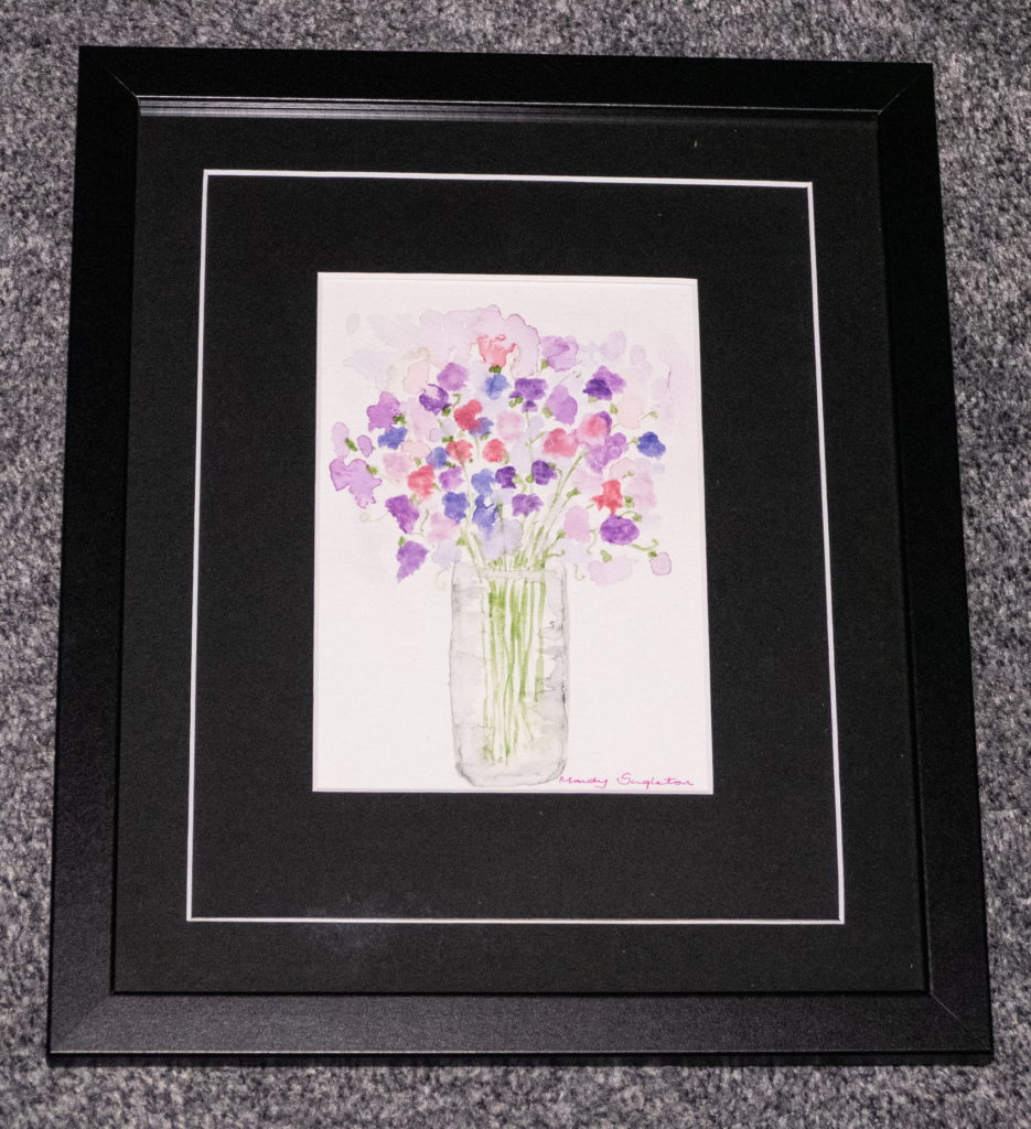Sweet Peas in a Vase Available to Purchase