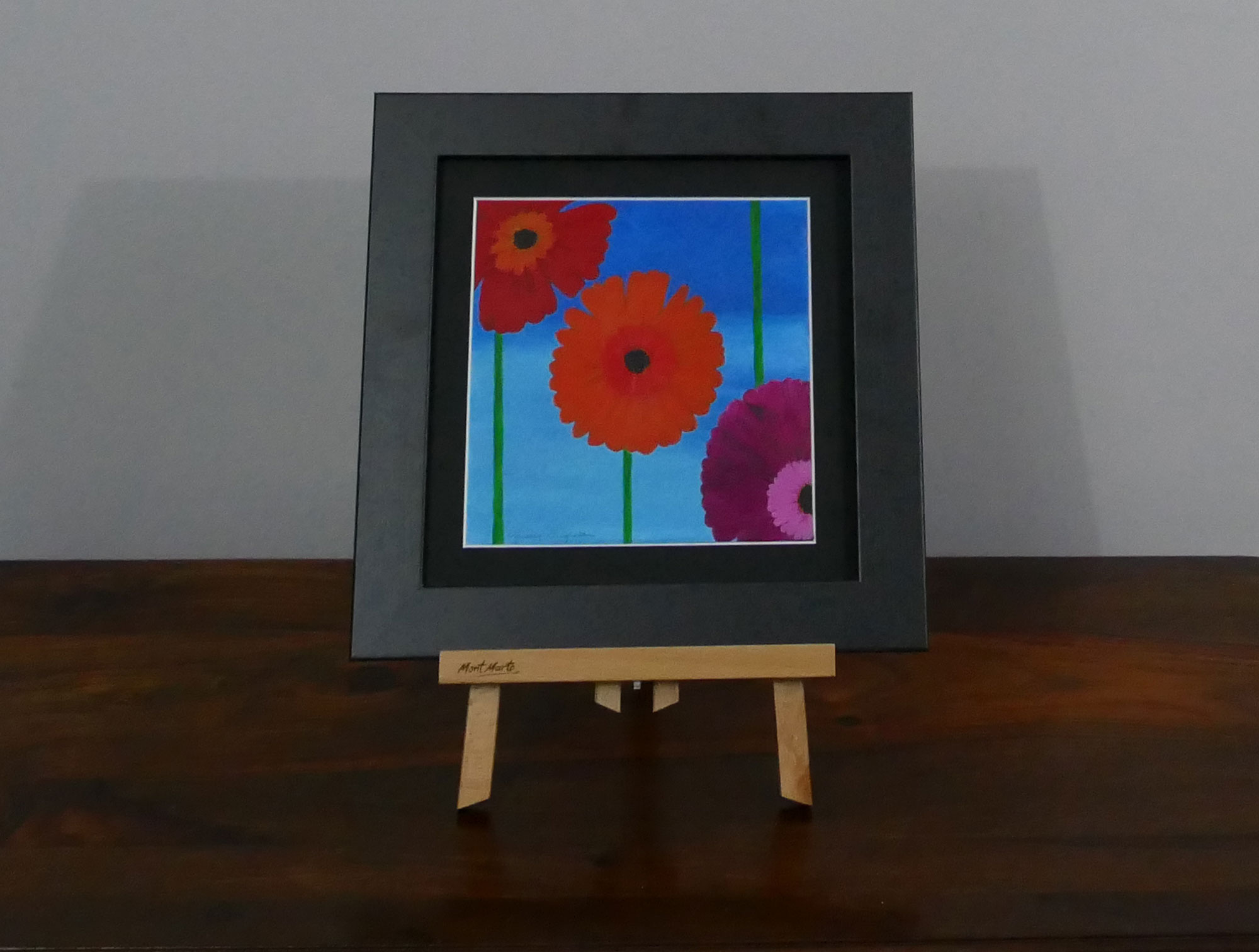 Gerberas acrylic painting, available to purchase