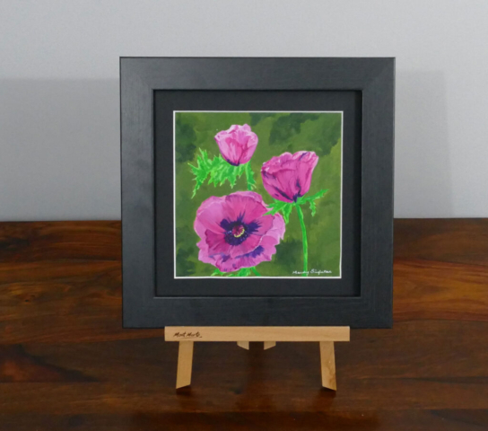 Dahlias acrylic painting, available to purchase