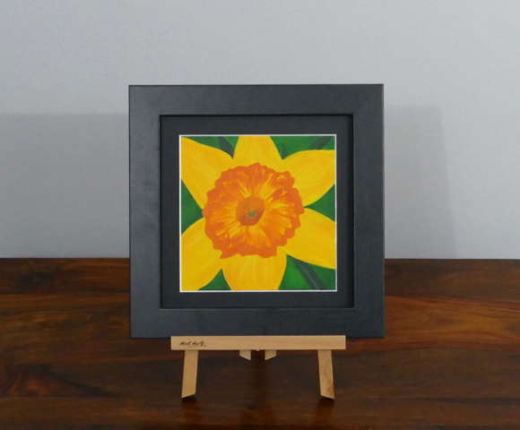Daffodil acrylic painting, available to purchase