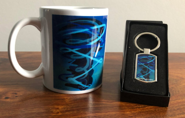 Drowning in the Blue Mug and Keyring