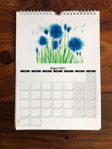 2021 Calendar August
