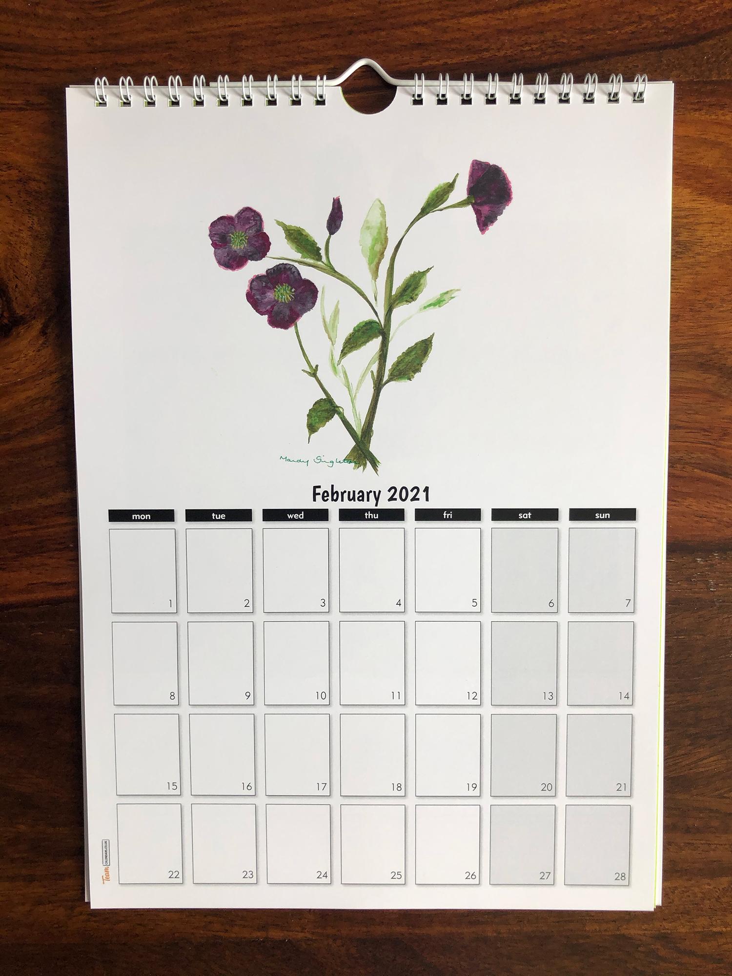 Calendar 2021 February