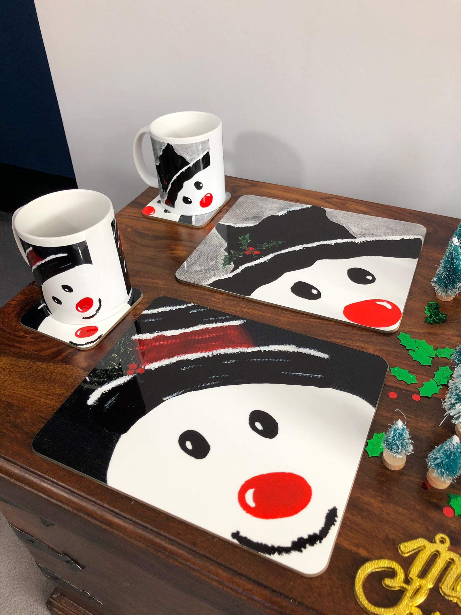 Snowmen Range , Mugs, Coasters, Placemats