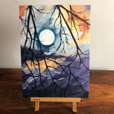 Gothic Moon Unframed Acrylic