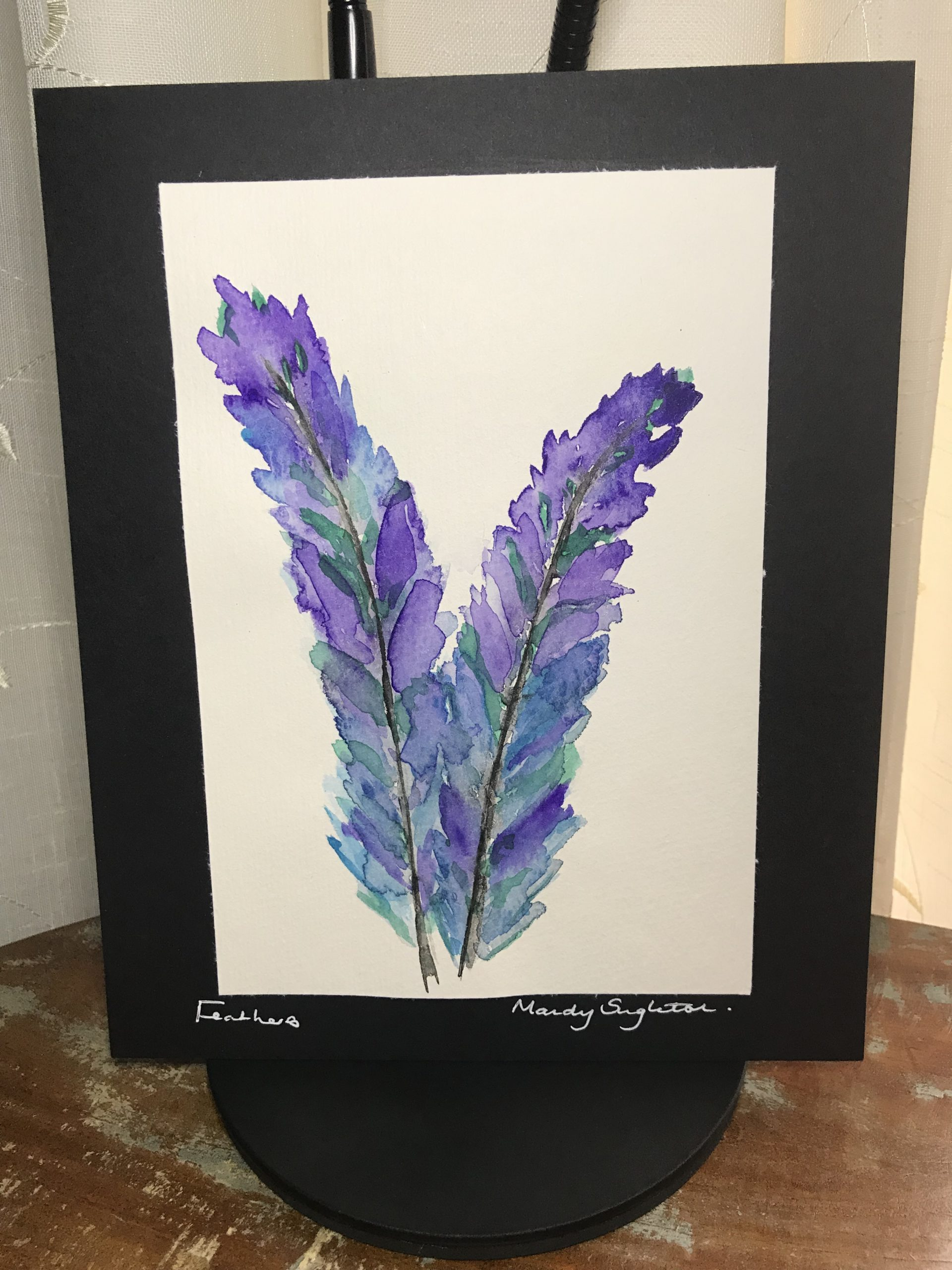 Purple and Blue Feathers