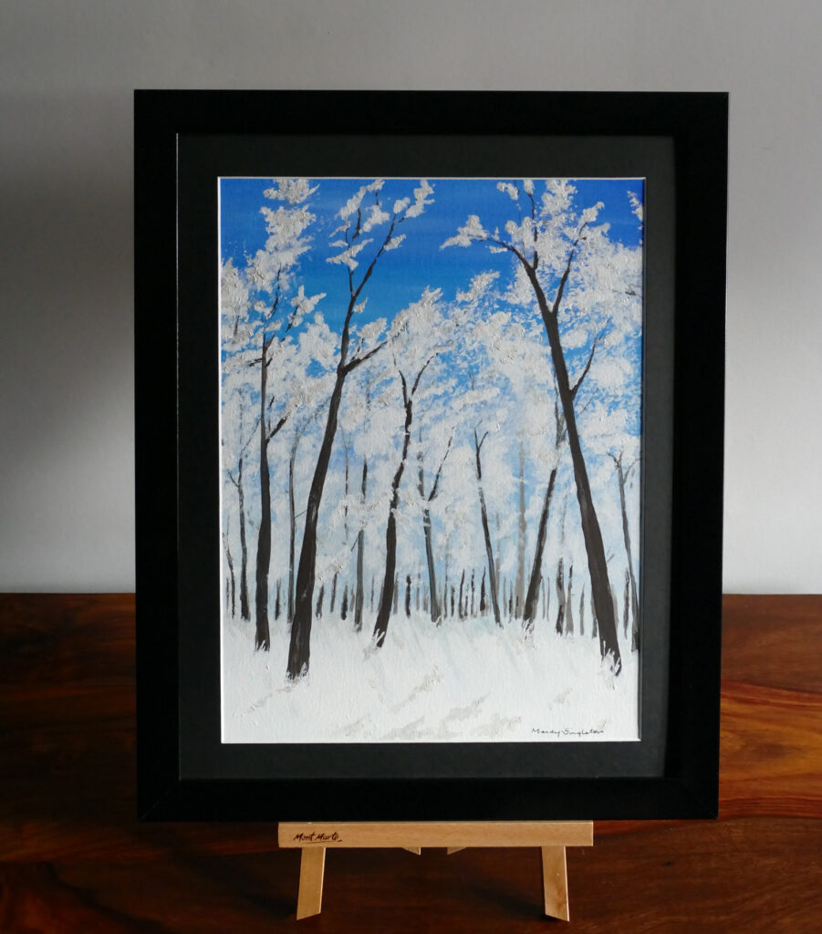 Snowy Woods - Acrylic Painting